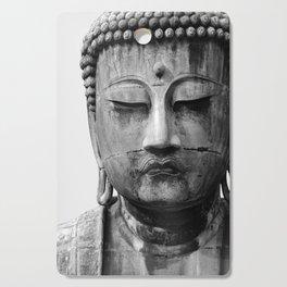 Buddha Statue, Buddha Photograph, Black and White Buddha Print Cutting Board