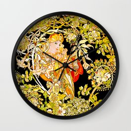 Marguerite's Bower, Mucha Wall Clock