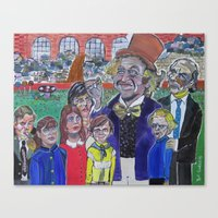 willy wonka Canvas Prints featuring Willy Wonka by Robert E. Richards
