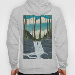Woodland Waterfall landscape Hoody