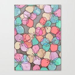 It's Always Summer Somewhere - bright poppy floral Canvas Print