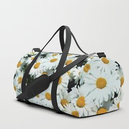 Daisies explode into flower Duffle Bag
