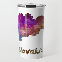 Slovakia in watercolor Travel Mug