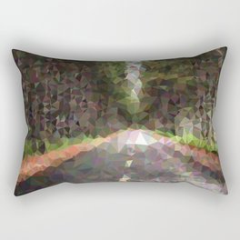 Geometric Road With Trees Rectangular Pillow