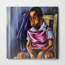 """African American Classical Masterpiece """"Negro Boy, 1938"""" by Hale Woodruff Metal Print"""