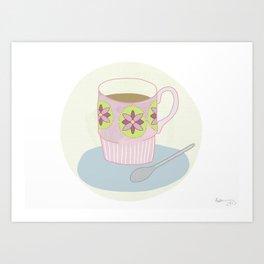 Retro Coffee Art Print