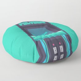 Polybius Arcade Game Machine Cabinet - Front Green Floor Pillow