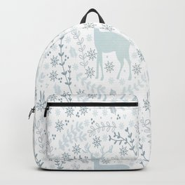 Winter floral deer Backpack