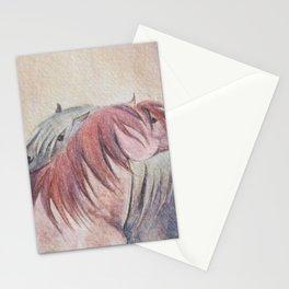 Grooming Shetland Ponies Stationery Cards