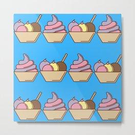 Summer - Ice Cream Of Flavors Metal Print