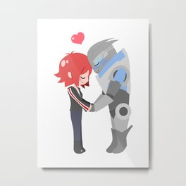 Mass Effect - Shakarian Metal Print