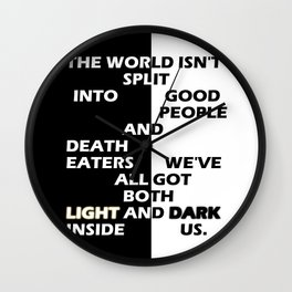 Good People and Death Eaters Wall Clock