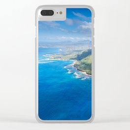 Na Pali approaching Hanalei Clear iPhone Case