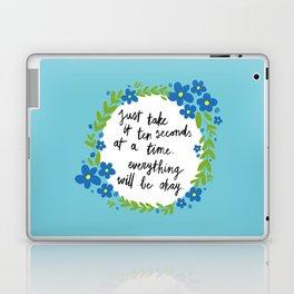 Ten Seconds - Blue Laptop & iPad Skin