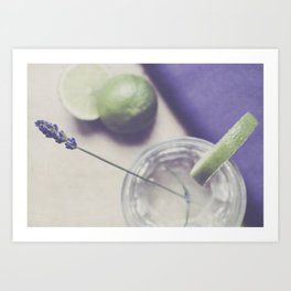 Lavender and Lime Art Print