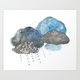 Melting Snow Art Print