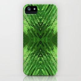 Abstract Green Mandala 745 iPhone Case