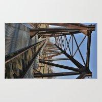 bridge Area & Throw Rugs featuring Bridge by Falko Follert Art-FF77