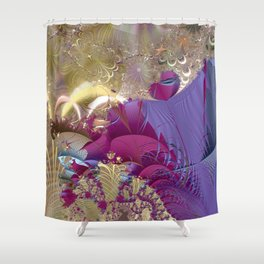 Feelings of being in love -- Fractal illustration Shower Curtain