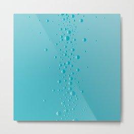 Rising Bubbles Metal Print