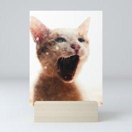 Ginger Cat Portrait Meow Peekaboo Cat Illustration Animal Fine Art Photography Mini Art Print