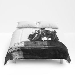 old man statue Comforters