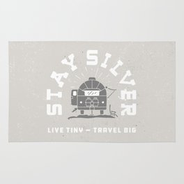 """Stay Silver"" Retro Type (gray) Rug"