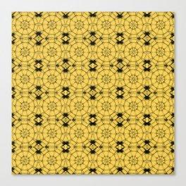 Primrose Yellow Pinwheels Canvas Print