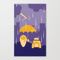 wall e Canvas Prints featuring Wall-E by Gardner Art and Design
