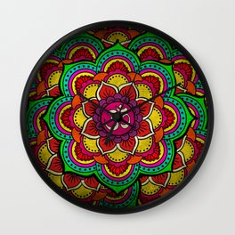 Psychedelic Ohm Wall Clock