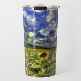 Summer Sunflowers Van Gogh Travel Mug
