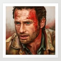 rick grimes Art Prints featuring Rick Grimes  by symphonikaa