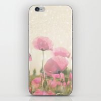 poppies iPhone & iPod Skins featuring POPPIES by Monika Strigel
