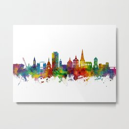 Rostock Germany Skyline Metal Print