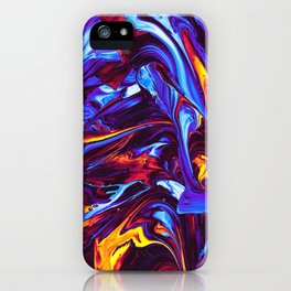 Ice and Fire Fluid iPhone Case