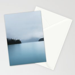Maligne Lake in Fog Stationery Cards