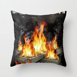 Every day we get money. Every night we burn money Throw Pillow