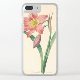 Lilies Flower Color Pencil Hand Drawing Clear iPhone Case