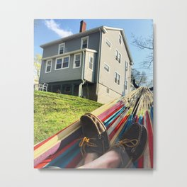 Day Off, Feet in Loafers, In the Hammock Metal Print
