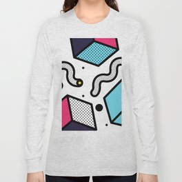 Memphis Pop-art Pattern II Long Sleeve T-shirt