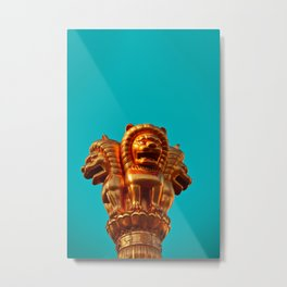 Lion Guardians - China Metal Print
