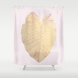 Gold leaf - heart Shower Curtain
