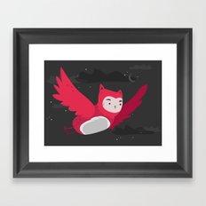 Amaranth night owl Framed Art Print