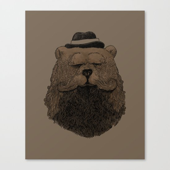Grizzly Beard Canvas Print
