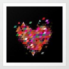 Heart1 Black Art Print