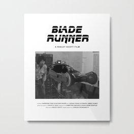 Blade Runner Behind the Scenes Movie Poster Metal Print