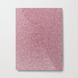 Melange - White and Burgundy Red Metal Print