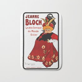 Vintage French Ad - Jeanne Bloch Bath Mat