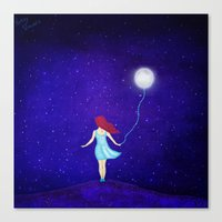 redhead Canvas Prints featuring redhead by Nancy Woland