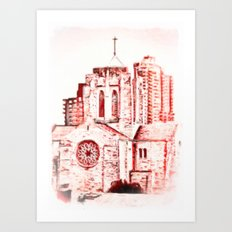 Our Lady Queen of Martyrs Art Print